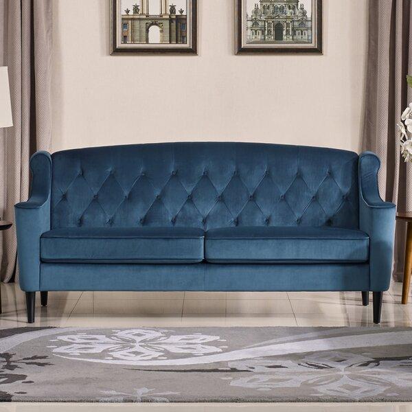 Crewkerne Velour Standard Sofa by Mercer41