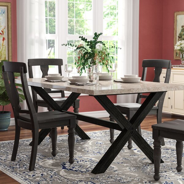Coleville Solid Wood Dining Table by Red Barrel Studio