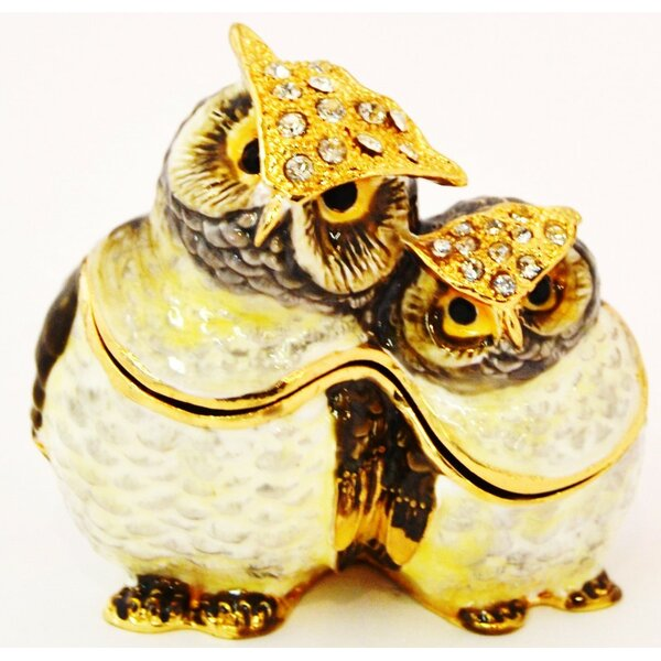 Two Owl Jewelry Box by Millwood Pines