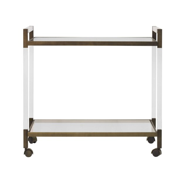 Acrylic Bar Cart by Worlds Away