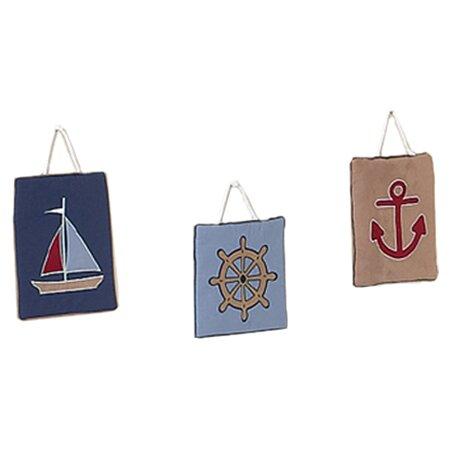 3 Piece Nautical Nights Wall Hanging Set by Sweet Jojo Designs