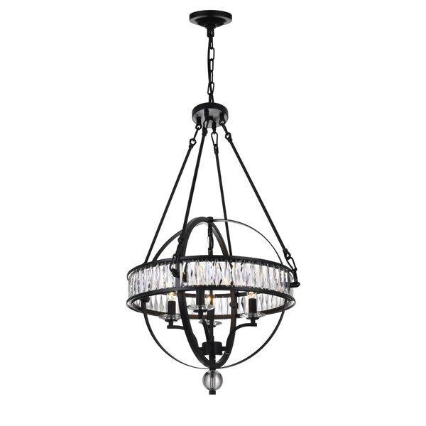 Haupt 4 - Light Candle Style Globe Chandelier By Gracie Oaks