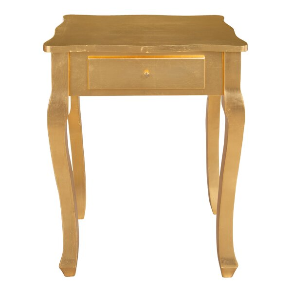 Synthia Classic Glam End Table by House of Hampton