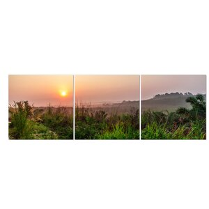 Dawn Scenery 3 Piece Photographic Print Set by Furinno