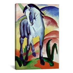 'Blue Horse' by Franz Marc Painting Print on Canvas by iCanvas