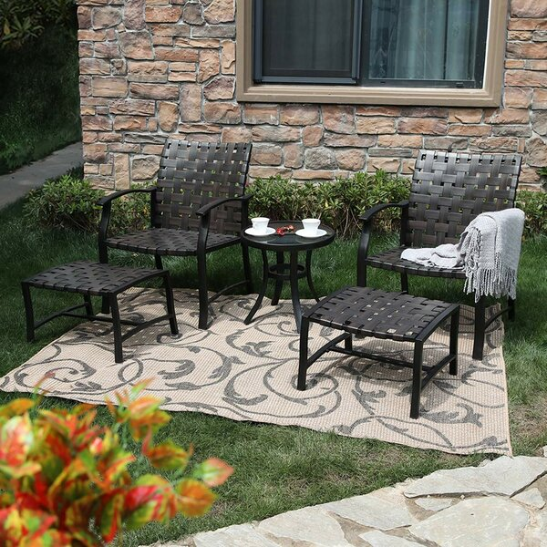 Stinnett 5 Piece Seating Group (Set of 2) by Charlton Home