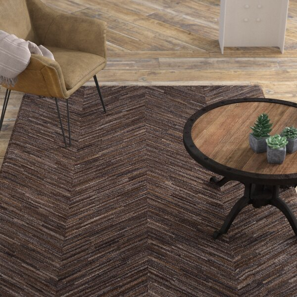 Loraine Hand Woven Tan/Taupe Area Rug by Williston Forge