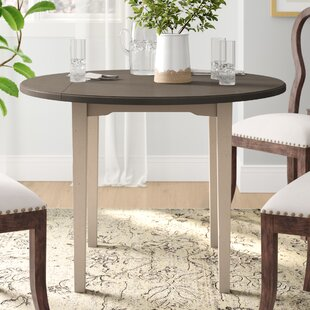 Kinsey Drop Leaf Dining Table by Rosecliff Heights