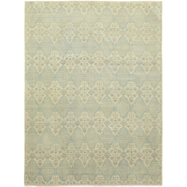 One-of-a-Kind Cynthia Hand-Knotted Wool Blue Indoor Area Rug by Isabelline