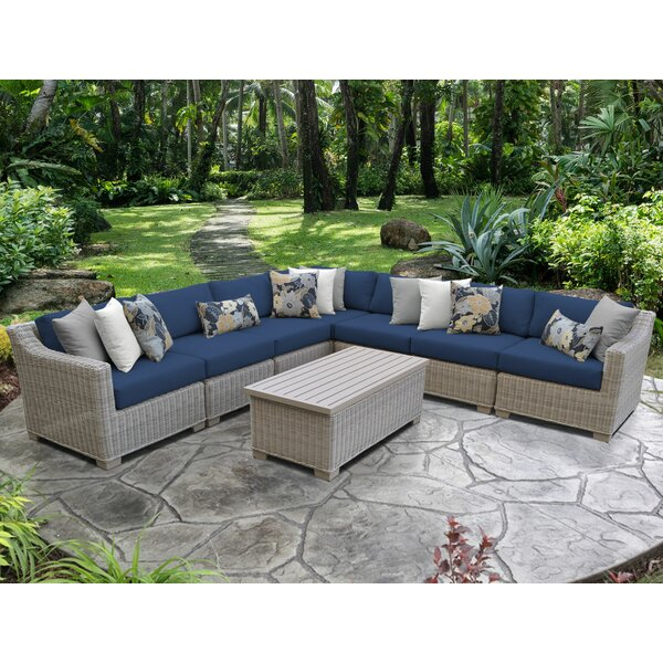 Claire 8 Piece Sectional Seating Group with Cushions by Rosecliff Heights Rosecliff Heights