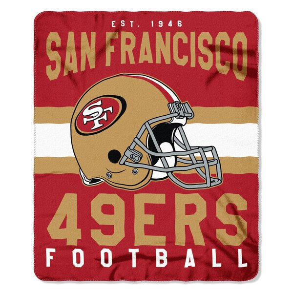 NFL San Francisco 49ers Printed Fleece Throw by Northwest