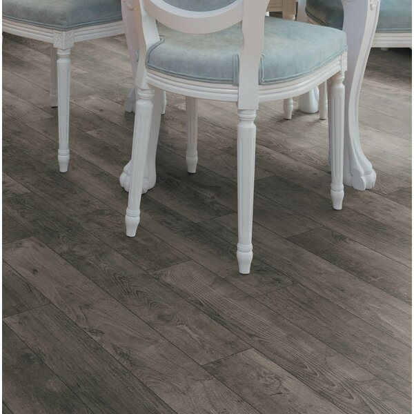 Torre 9 x 48 x 8mm Teak Laminate Flooring in Gray by Branton Flooring Collection