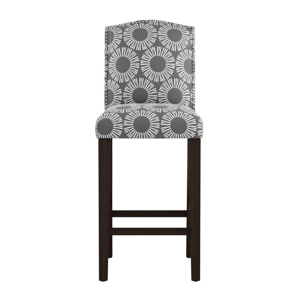 Edford Arched Medallion 31 Bar Stool by Wrought Studio