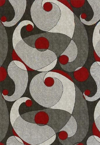 Pastiche Remous Ebony Area Rug by Milliken
