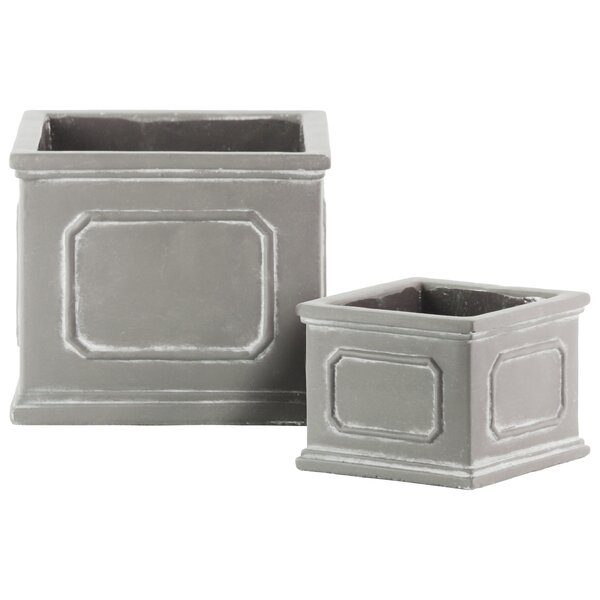 Treutlen 2 Piece Cement Pot Planter Set by Ophelia & Co.