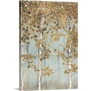 Soft Birch by Edward Selkirk Painting Print on Canvas by Great Big Canvas