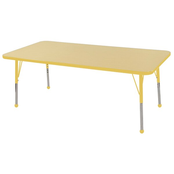 Maple Top Thermo-Fused Adjustable 30 x 60 Rectangular Activity Table by ECR4kids