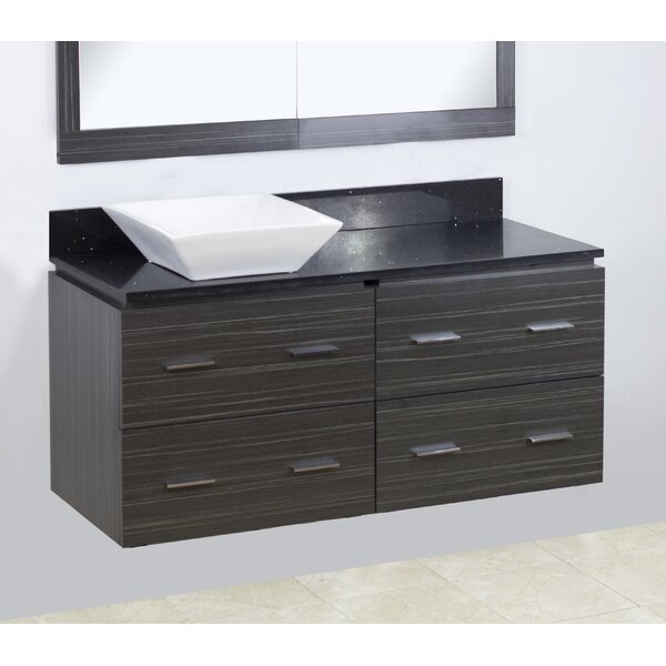 48 Single Modern Wall Mount Bathroom Vanity Set