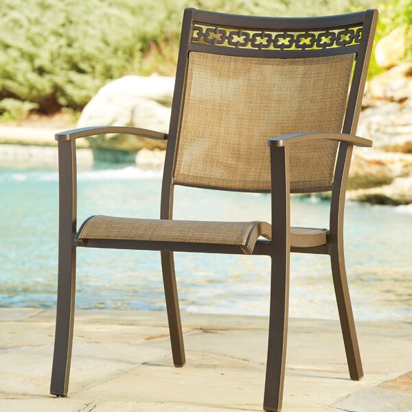 Antila Stacking Patio Dining Chair (Set of 4) by Beachcrest Home
