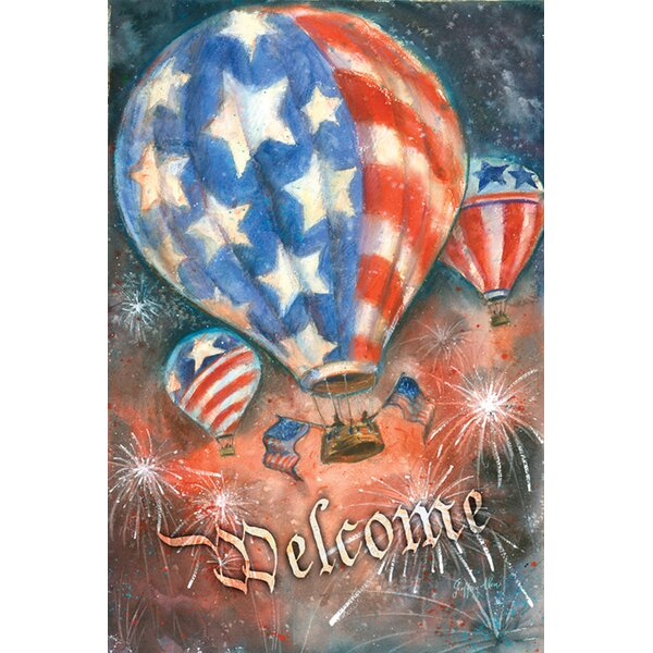 Red White and Balloon 2-Sided Garden flag by Toland Home Garden
