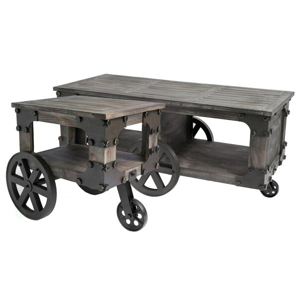 Callista Wagon 2 Piece End Table Set by 17 Stories