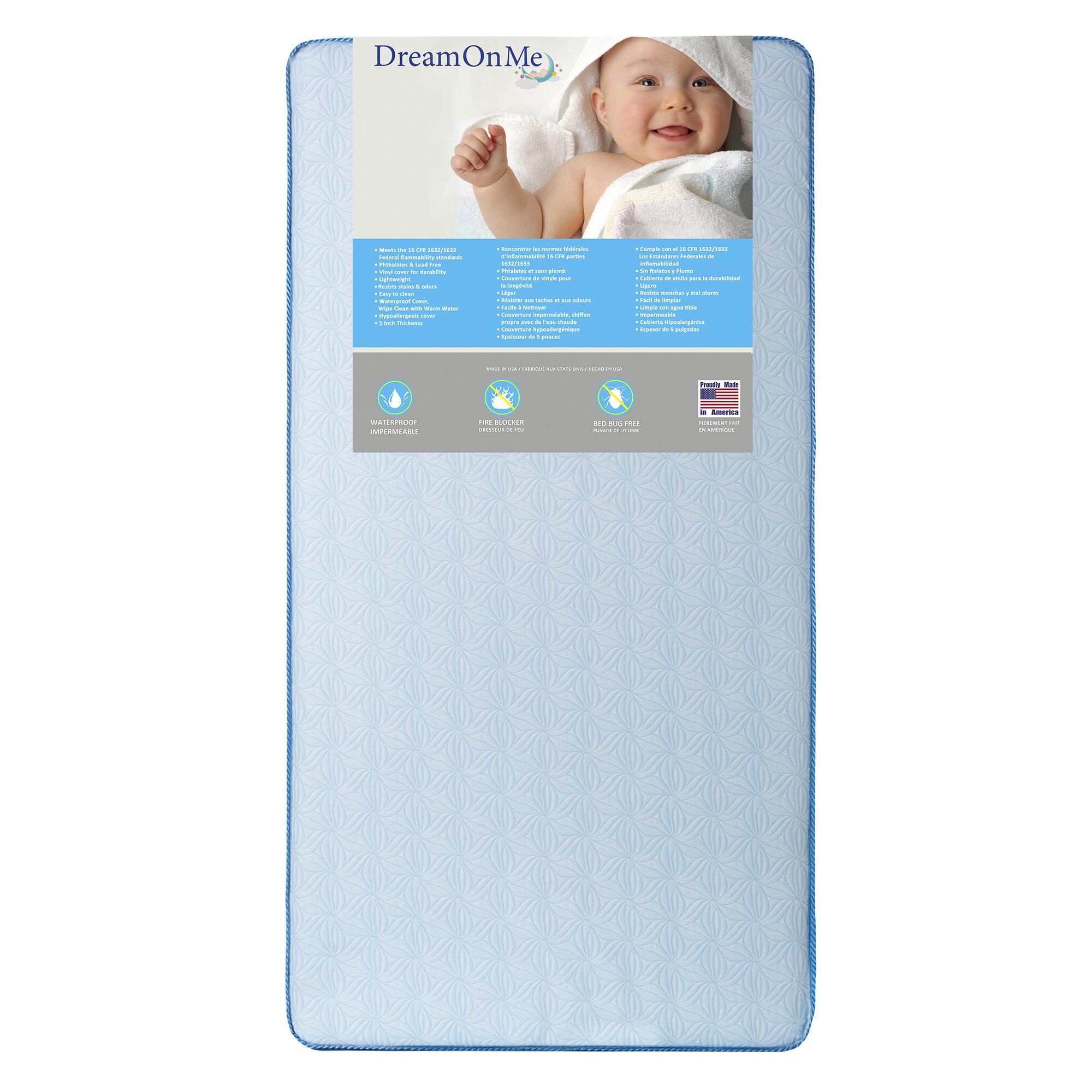 Dream On Me Moonlight 6 Crib And Toddler Mattress Reviews Wayfair