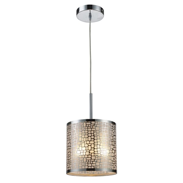 Pyla 1-Light Cylinder Pendant by Bay Isle Home