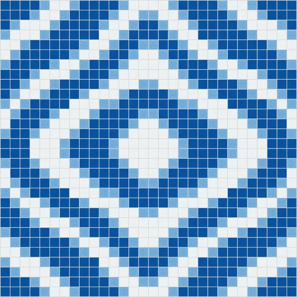 Urban Essentials Groovy 3/4 x 3/4 Glass Glossy Mosaic in Lakefront Blue by Mosaic Loft