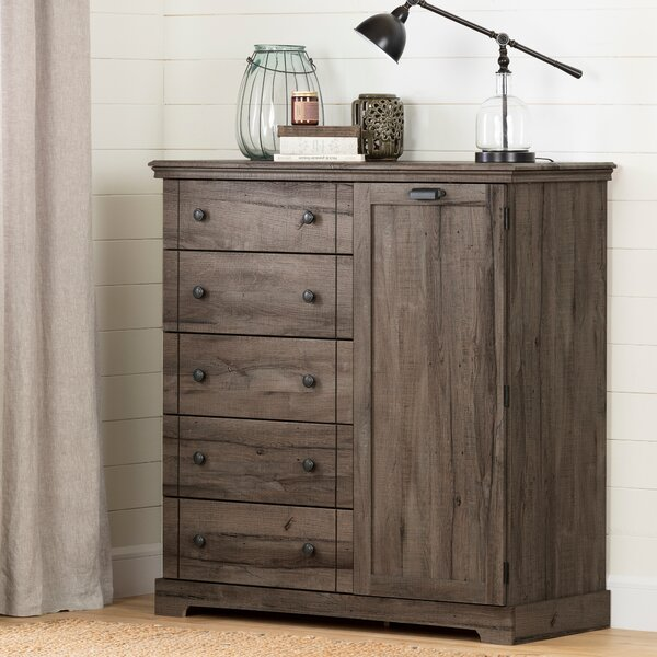Avilla 5 Drawer Combo Dresser by South Shore
