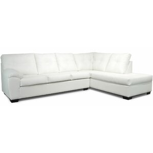 Camden Sectional  sc 1 st  Wayfair : white leather sectional sofa with chaise - Sectionals, Sofas & Couches