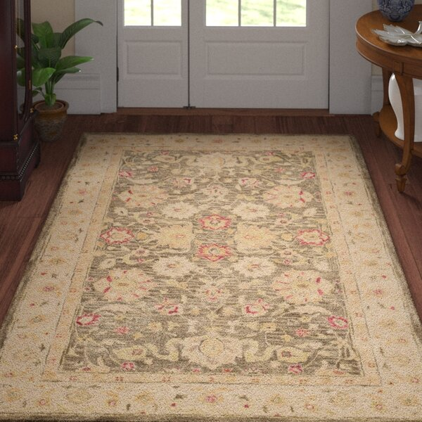 Ashville Hand-Tufted Olive / Beige Area Rug by Three Posts