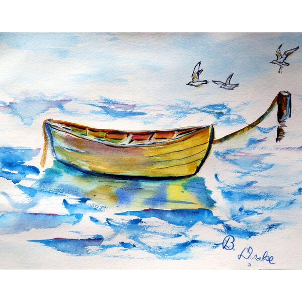 Yellow Rowboat 18 Placemat (Set of 4) by Betsy Drake Interiors