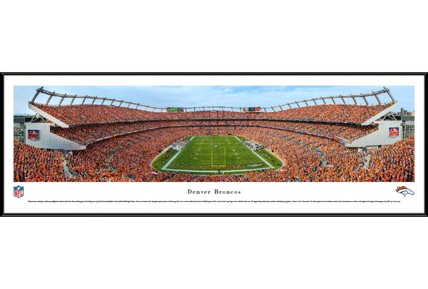 NFL Denver Broncos - Mile High Stadium by James Blakeway Framed Photographic Print by Blakeway Worldwide Panoramas, Inc
