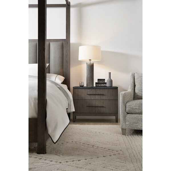 Miramar Aventura San Marcos Stone Top 2 Drawer Nightstand By Hooker Furniture by Hooker Furniture Great price