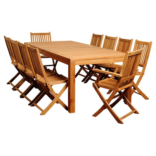 11 Piece Teak Dining Set by International Home Miami