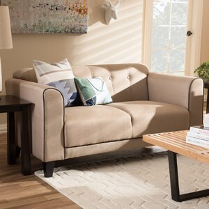 Summerhill Modern 2 Seater Standard Loveseat by Alcott Hill