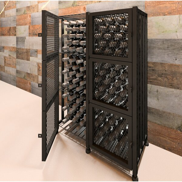 Jersey Locker 96 Bottle Floor Wine Bottle Rack by Rebrilliant Rebrilliant