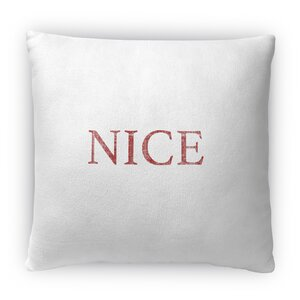 Nice Fleece Throw Pillow