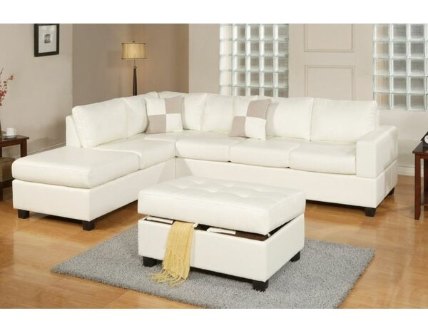 Marquise Reversible Sectional With Ottoman by Latitude Run