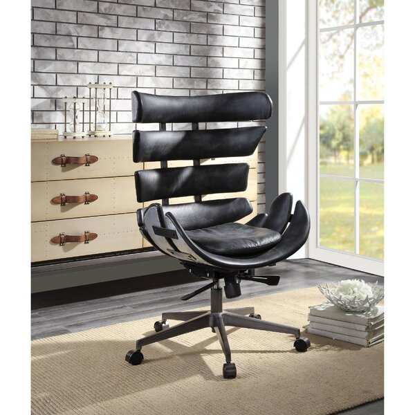 Swell Hutchison Wingback Executive Chair By 17 Stories Pabps2019 Chair Design Images Pabps2019Com