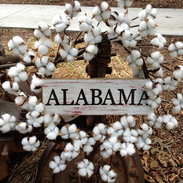 Alabama Faux Cotton 22 Wreath by August Grove
