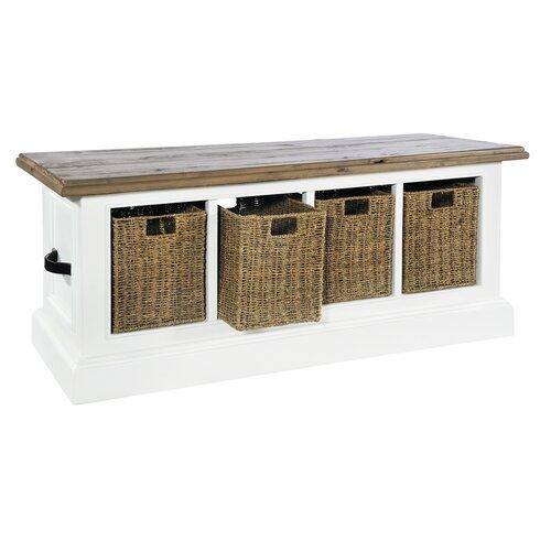 Sitzbank Bellemoor aus Holz mit Stauraum Küstenhaus | Küche und Esszimmer > Sitzbänke > Einfache Sitzbänke | Küstenhaus