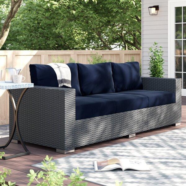 Tripp Patio Sofa with Sunbrella Cushions by Brayden Studio