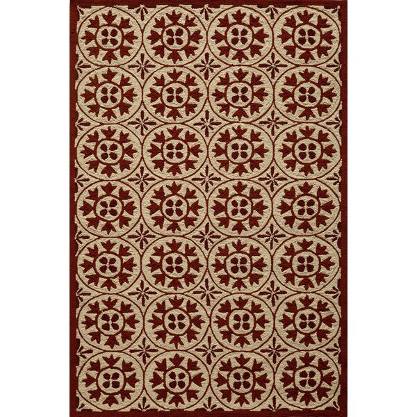 St James Hand-Hooked Red Indoor/Outdoor Area Rug by Charlton Home