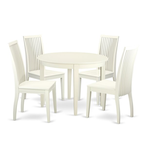 Hillhouse Solid Wood Dining Set By Red Barrel Studio