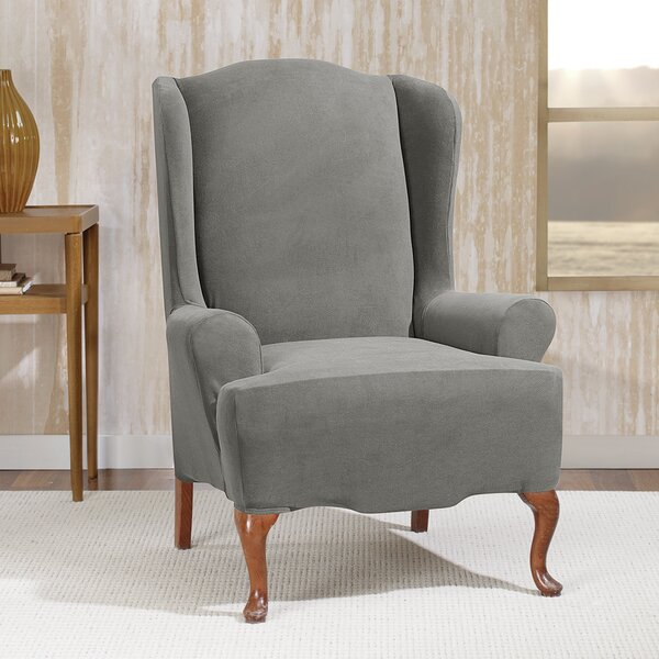 Stretch Morgan T-Cushion Wingback Slipcover By Sure Fit