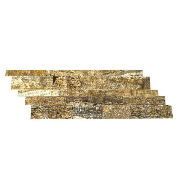 Random Sized Natural Stone Mosaic Splitface Tile in Alpine by QDI Surfaces