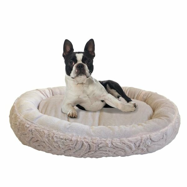 Eco Friendly Round Extra Plush Soft Dog Bolster by Stratford Home