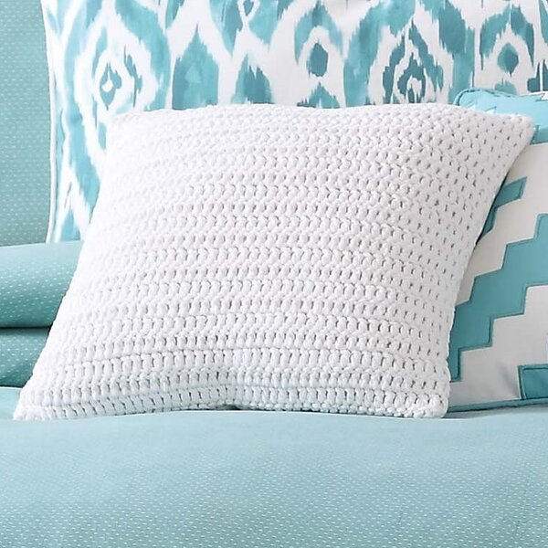 Oxford Knit Decorative Cotton Throw Pillow by Rosecliff Heights