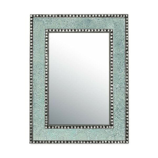 Crackled Glass Jewel Tone Mosaic Wall Mirror by DecorShore